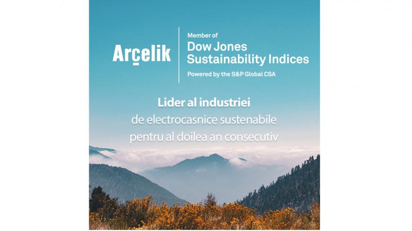 Arçelik a fost desemnată, din nou, lider în industrie, în cadrulIndicelui de sustenabilitate Dow Jones