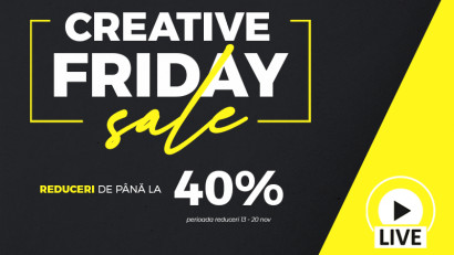 Cursuri Creative lansează Creative Friday: 10 cursuri cu reduceri de până la 40%