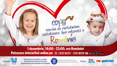 Copiii romani de pretutindeni sarbatoresc Ziua Nationala a Romaniei