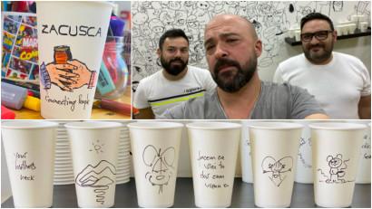 [Optimism de business] Catalin Jianu și paharele cu glume: Oamenii au nevoie de umor pentru a merge mai departe