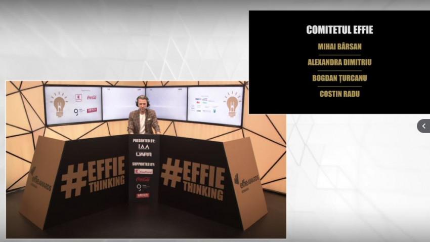 41 de premii au fost acordate laGala de Premiere Effie 2020, prima în format digital.Grand Effie: The Banknote Concerts