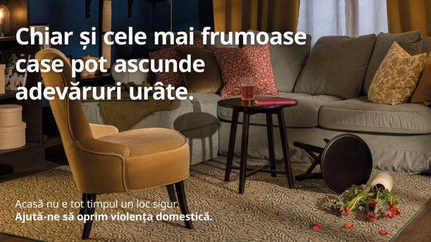 """IKEA acționează cu fermitate împotriva escaladării violenței domestice, prin lansarea campaniei """"O casă sigură este o casă mai bună"""""""