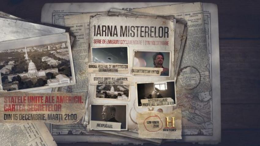 """Din 1 decembrie, HISTORY declară deschisă """"Iarna Misterelor"""", prin difuzarea unor seriale documentare tematice"""