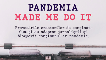 NO.MAD deschide discuția despre provocările creatorilor de conținut pe 23 noiembrie, la cea de-a treia ediție a evenimentului online Pandemia Made Me Do It