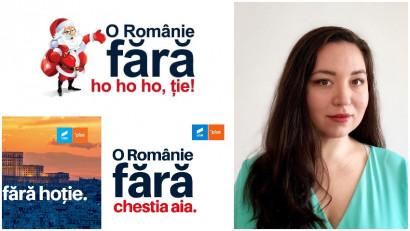 """Alexandra Jeles, USR: A fost o decizie dificilă să alegem sloganul """"O Românie fără hoție"""", mulți experți ne-au spus că alegerile se câștigă cu mesaje pozitive"""