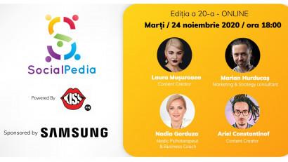 SocialPedia 20:Despre conținut de calitate și frici cu Laura Mușuroaea, Marian Hurducaș, Nadia Gorduza și Ariel Constantinof