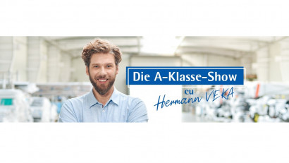 VEKA și Oxygen dau viață personajului german care se pricepe la ferestre, în serialul Die A-Klasse-Show, cu Hermann VEKA