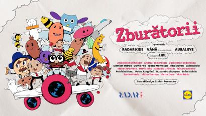 Urmărește Zburătorii, animația colaborativă dintre copii și artiști, la Animest.Realizată în cadrul Bibliotecii de New Media Art pentru Copii,un proiect RADAR Kids și Lidl România