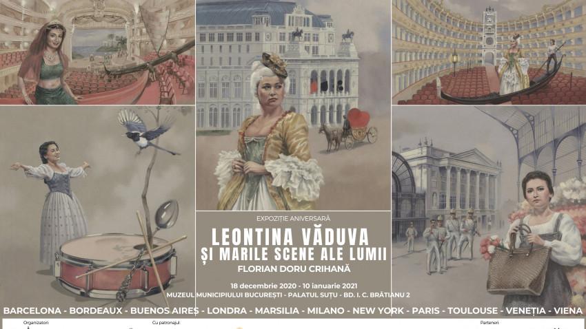 Leontina Văduva și marile scene ale lumii. Operă ilustrată după un libret de Florian Doru Crihană