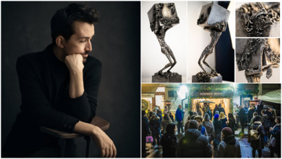 Daniel Rădulescu: Până să ajung să lucrez cu metal, am experimentat cu mai multe materiale, de la piatră, lemn, rașină, lut, ipsos și chiar fructe. Toate au povestea și frumusetea lor