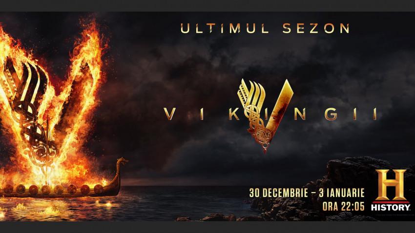 """Din 30 decembrie, HISTORY difuzează, în premieră, ultimele episoade din saga """"Vikingii"""""""