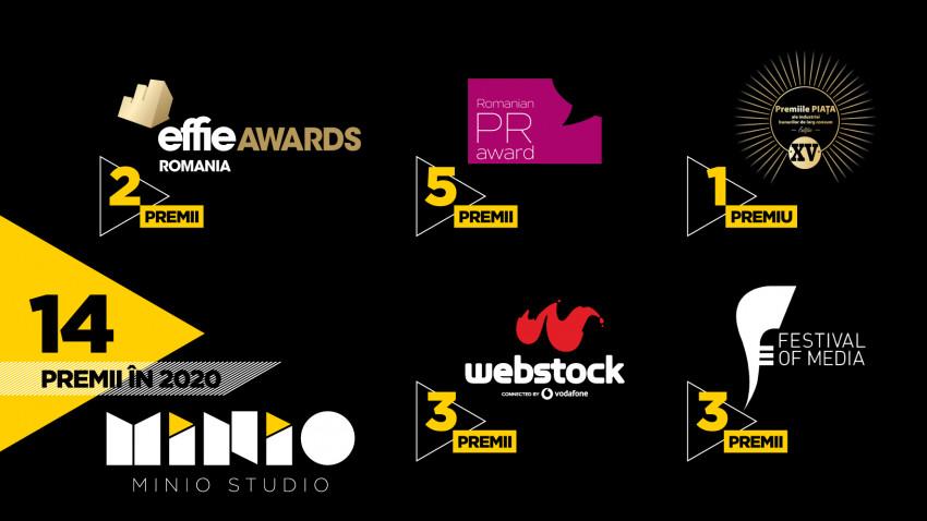 Minio Studio încheie anul cu 14 premii,fiind cea mai premiată agenție locală independentă