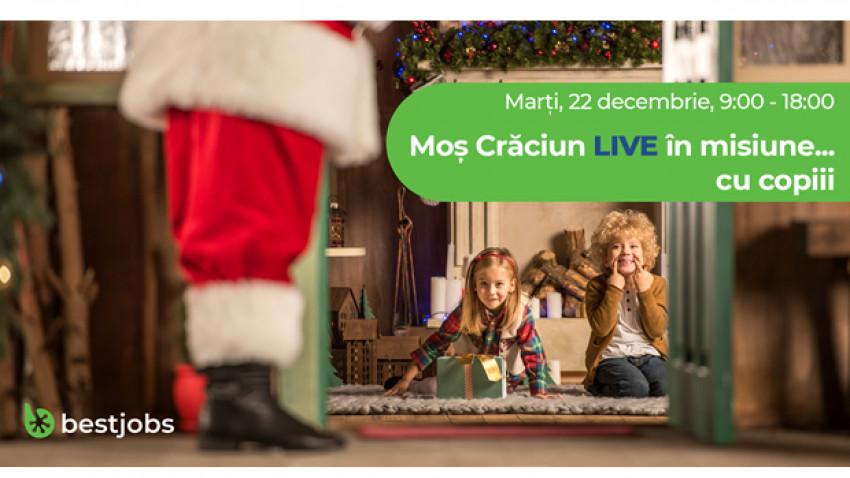 Moş Crăciun se adaptează vremurilor și este LIVE în misiune cu copiii, online