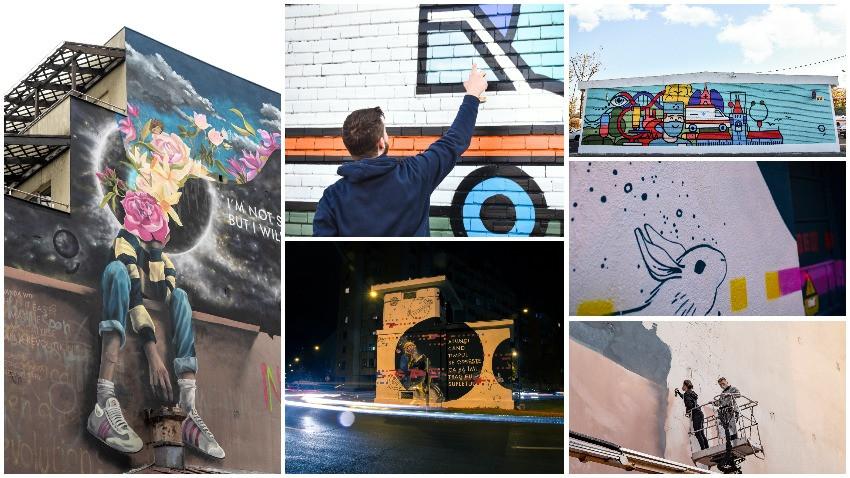 George augmentează spiritul urban. Murale noi & vibrante în București, Iași și Brașov