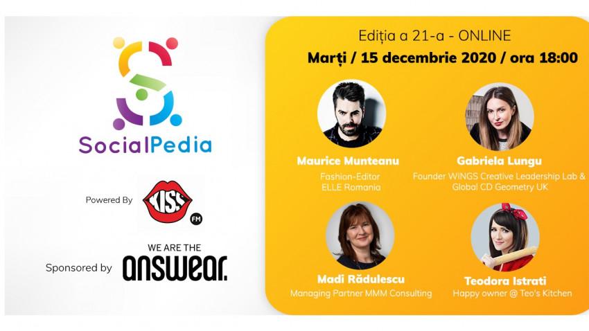 SocialPedia 21:Despre campanii cu influenceri și smart leadership cu Maurice Munteanu, Gabriela Lungu, Teo's Kitchen și Madi Rădulescu