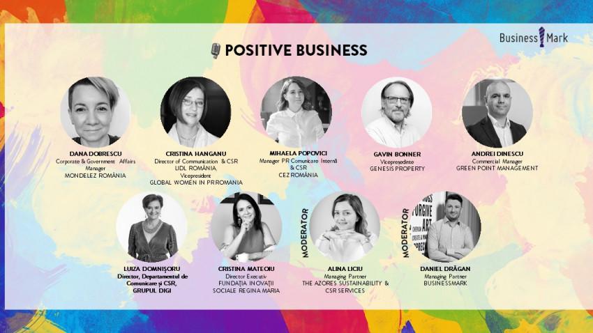 """Sustenabilitate, responsabilitate socială și implicare în contextul pandemiei - teme de dezbatere la conferința online """"POSITIVE BUSINESS. A talk about sustainability and positive impact in business"""""""