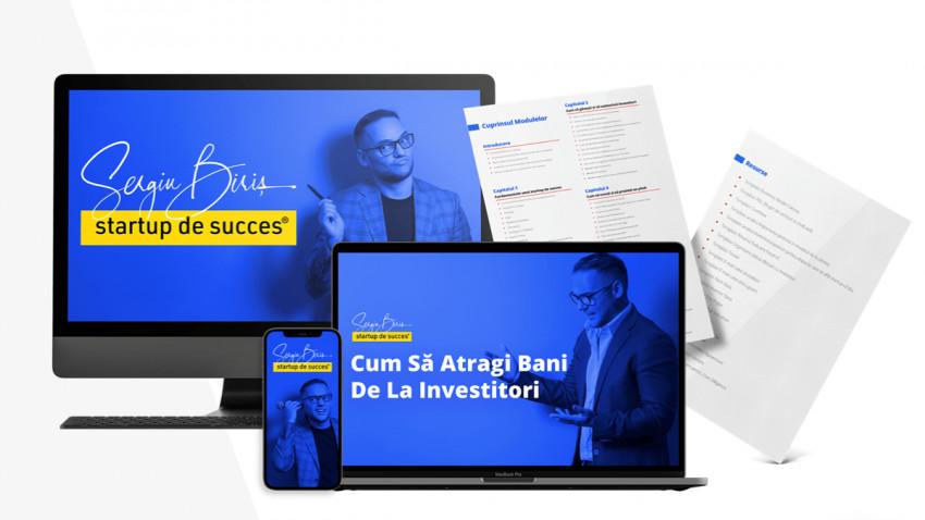 Antreprenorul Sergiu Biriș lansează, la UPGRADE 100, primul curs profesionist în limba română despre cum să atragi bani de la investitorii din tehnologie
