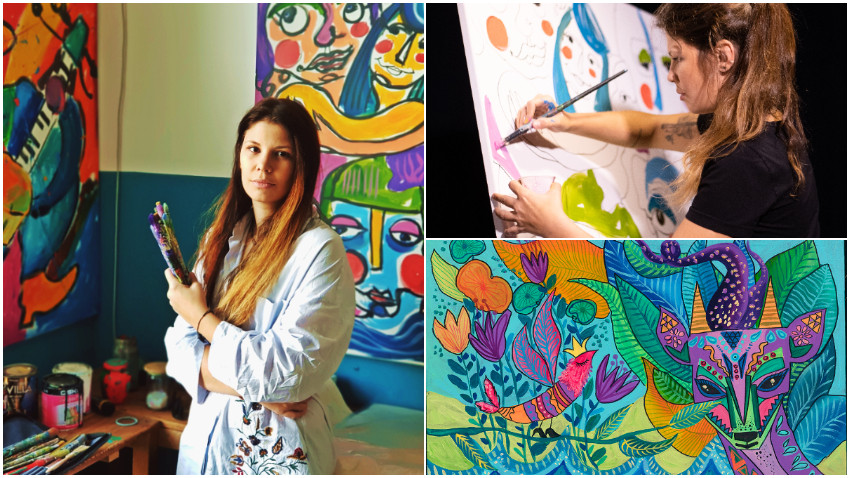 """[Art & Magic] Lavinia Fălcan: Pentru mine culoarea e totul, la prima mea expozitie internationala la New York am fost desemnata """"The Queen of Color"""""""