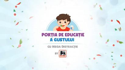 """Mega Image lansează proiectul """"Porția de educație a gustului, cu mega distracție"""" alături de Sunshine Digital"""