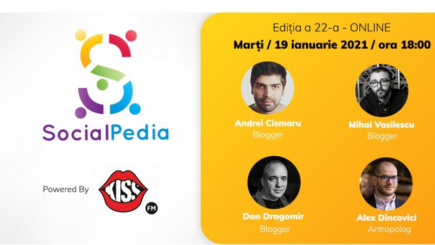 SocialPedia 22:Despre blogging în 2021 și impactul pandemiei, cu Andrei Cismaru, Mihai Vasilescu, Dan Dragomir și Alex Dincovici