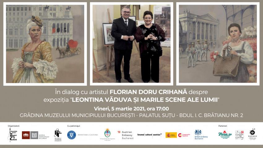 Întâlnire cu artistul Florian Doru Crihană la Palatul Șuțu