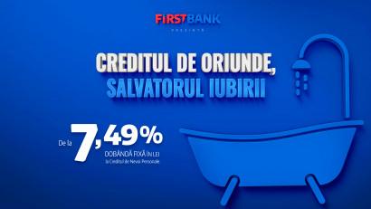 First Bank lansează o nouă campanie de comunicare înluna dragostei: Creditul de Oriunde, Salvatorul Iubirii,semnată Cheil | Centrade