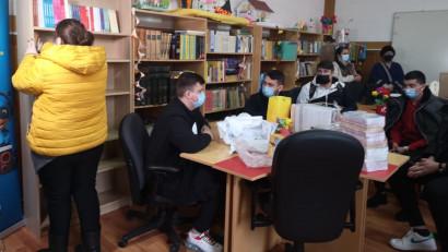 Bibliotecă socială donată Liceului Iordache Zosima din comună Armășești