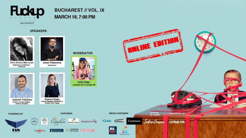 Regizoarea de teatru Chris Simion - Mercurian, Gabriel Trăistaru - Telekom România, antreprenorul Iulian Pădurariu și Raluca Radu - Answear.ro vin la FUN IX