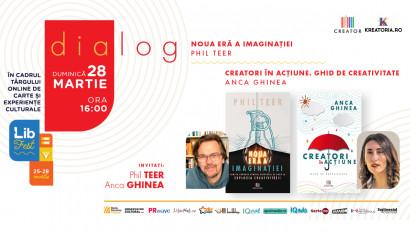 Două perspective asupra creativității aplicate – Anca Ghinea și Phil Teer, în dialog la LibFest