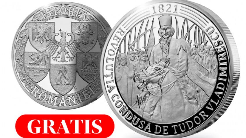 Casa de Monede lansează o medalie comemorativă cu ocazia a 200 de ani de la Revoluția din 1821, condusă de Tudor Vladimirescu