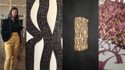 Delia Zahareanu: Caligrafia e un fel de a trăi imaginea cu resurse minime. Un instrument de scris, linia și suprafața de lucru