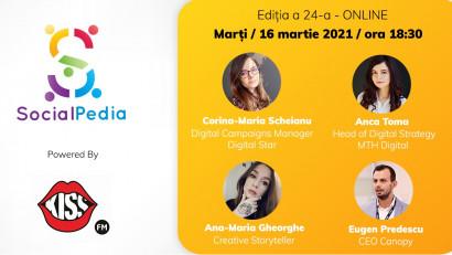 SocialPedia 24:Despre Performance Marketing și SEM cu Corina-Maria Scheianu, Eugen Predescu, Ana-Maria Gheorghe și Anca Toma