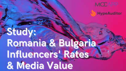 Studiu MOCAPP și HypeAuditor 2021:Cât câștigă influencerii din România și Bulgaria din campaniile pe Instagram