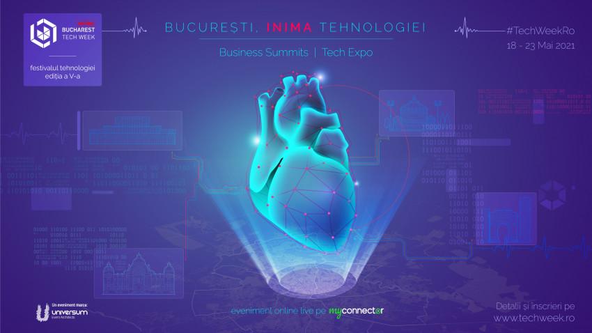 În 2021, capitala redevine INIMA TEHNOLOGIEI, la Bucharest Tech Week