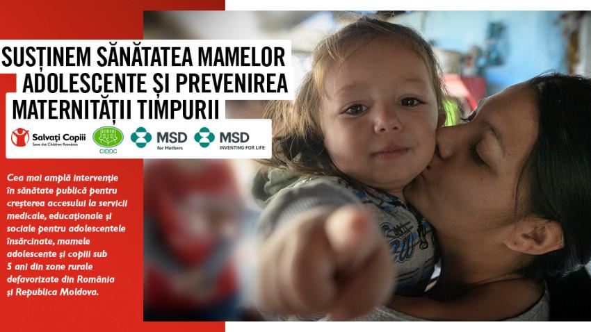 Salvați Copiii România, Centrul de Informare şi Documentare privind Drepturile Copilului din Moldova și MSD România demarează cea mai amplă intervenție transfrontalieră pentru sănătatea mamelor adolescente și prevenirea maternității timpurii