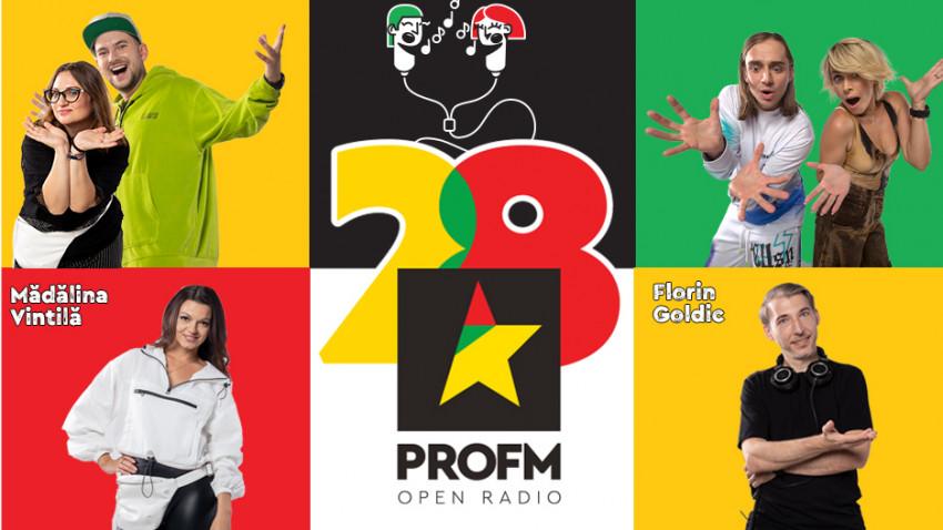PROFM împlinește 28 de ani și face party cu toată România