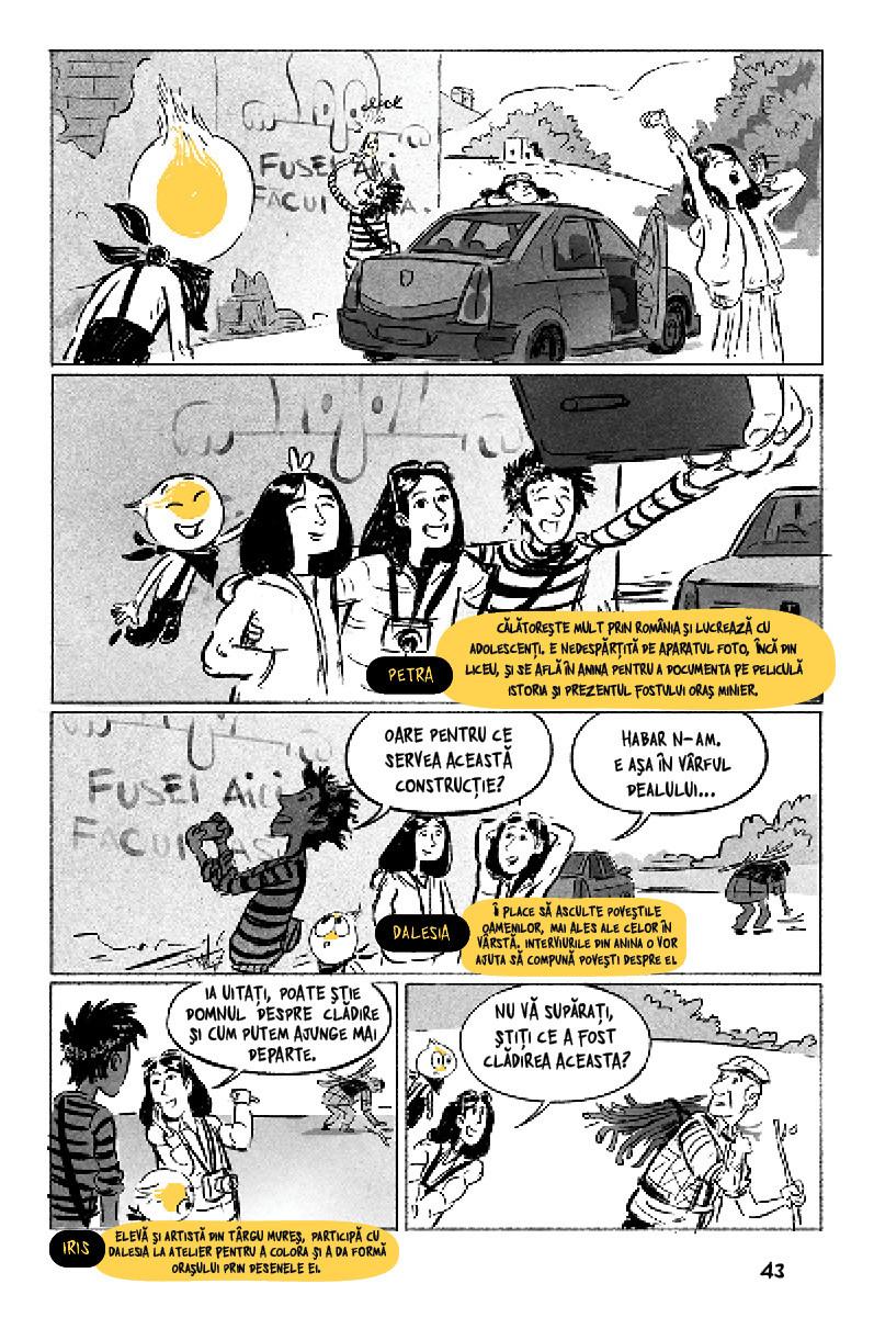 Prima bandă desenată despre Anina post-industrială