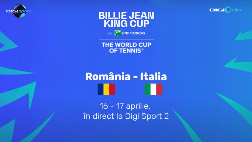 Billie Jean King Cup se vede la Digi Sport