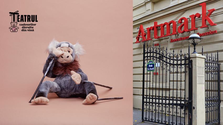 Jucăriile de pluș din Teatrul Cadourilor Dăruite din Vină sunt licitate în scop caritabil pentru susținerea demersurilor împotriva violenței domestice ale Asociației ANAIS
