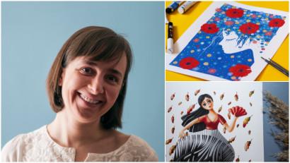 [Art&Magic] Doina Zavadschi: Ilustrez ce îmi vine când am un pic de timp, chiar și 5 minute pe zi sunt binevenite