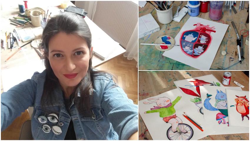 [Art&Magic] Georgiana Chitac: Din statul acasa au iesit niste ilustratii pentru o carte care mi-a adus o clasare printre finalistii de la Targul de carte de la Bologna de anul acesta
