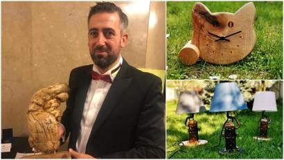 """[Noii artizani] Ionuț Hâncu: Incerc sa folosesc cat mai mult lemn provenit din natura, neatins de vreun utilaj, sau lemn """"refuzat"""", care ramane dupa altii"""
