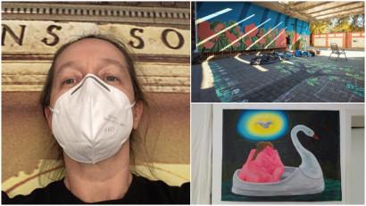 [Arta pandemica] Suzana Dan: Cumva am devenit șoriceii care, în loc să zburde prin hambar la liber, au fost închiși în cușcă și au rotița pe care aleargă