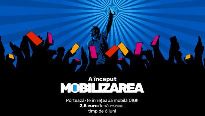 """Rețeaua """"cea mai tare în portare"""" aduce, din 1 aprilie, """"Mobilizarea"""" pentru utilizatorii de telefonie mobilă"""