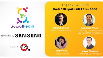 SocialPedia 25:Despre Video Marketing în 2021 cu Maximilian Ioan, Mugur Pătrașcu, Alexandru Voica și Ioana Puiu
