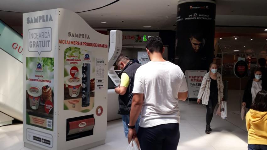 Samplia se extinde cu 3 noi automate amplasate in mall-uri si centre comerciale