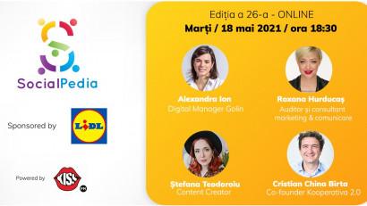 SocialPedia 26:Despre Influencer Marketing în 2021 cu Alexandra Ion, Roxana Hurducaș, Ștefana Teodoroiu și Cristian China Birta