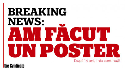 Breaking news: Am făcut un poster