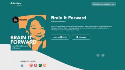 [Podcast Brain it Forward] Curajul copiilor si al medicilor, cu Irina Costache @ pediatricblog.info