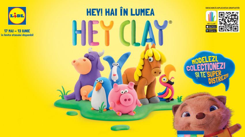 Lidl România deschide porțile creativității celor mici și aduce universul Hey Clay în toate magazinele din țară